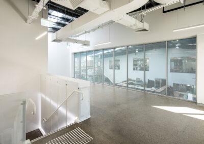 08-Koala-U11 Top Floor with U12 Mezzanine Extension behind Perforated Privacy Film